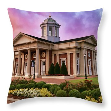 Throw Pillow featuring the photograph Pope Chapel Under Colorful Sky by Ola Allen