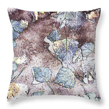 Poplar Leaf Path Throw Pillow by Aliceann Carlton