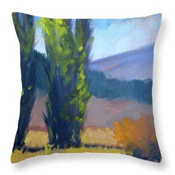 Poplars Throw Pillow