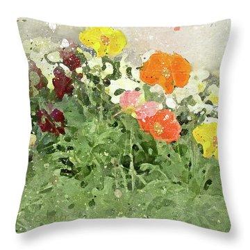 Poppies 2-f Throw Pillow
