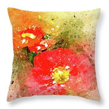 Poppies 5 S Throw Pillow