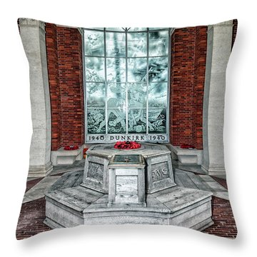 Poppies At Dunkirk Throw Pillow