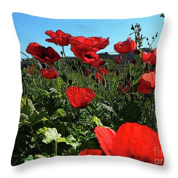 Poppies. Throw Pillow
