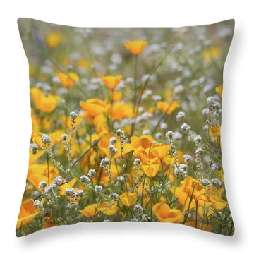 Throw Pillow featuring the photograph Poppies Fields Forever  by Saija Lehtonen