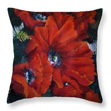 Poppies In Light IIi Throw Pillow