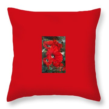 Poppies In Light Throw Pillow