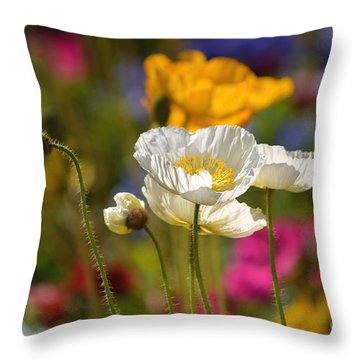 Poppies In The Spring Throw Pillow