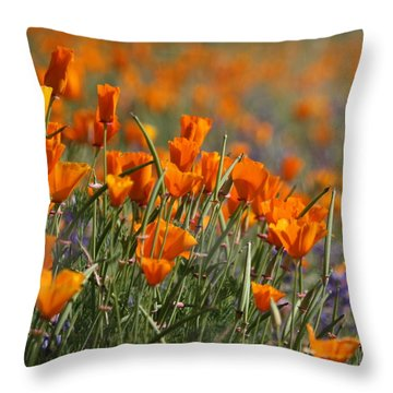Throw Pillow featuring the photograph Poppies by Patrick Witz