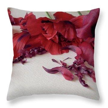 Poppies Petals Throw Pillow