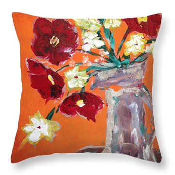 Poppies Paintings Throw Pillows
