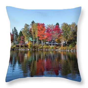 Popping Colors Throw Pillow