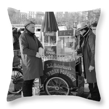 Popping In And Out Throw Pillow
