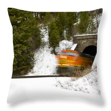 Popping Out Of Tunnel 1012 Throw Pillow