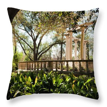 Popp's Fountain Throw Pillow by Kathleen K Parker
