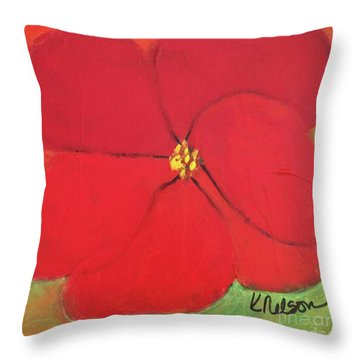 Poppy 2 Throw Pillow