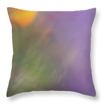 Throw Pillow featuring the photograph Poppy And Purple Lupine by Roger Mullenhour