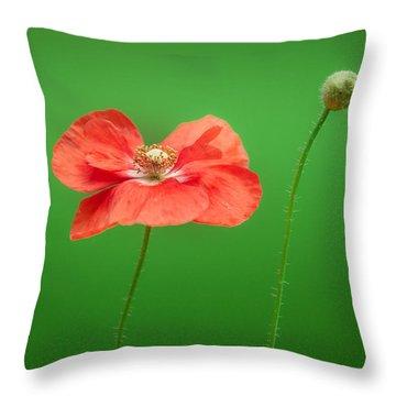 Poppy Throw Pillow by Bulik Elena