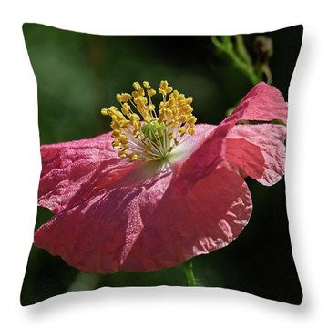 Poppy Close-up Throw Pillow