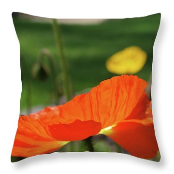 Poppy Cup Throw Pillow