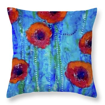 Poppy Dance Throw Pillow