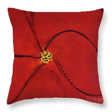 Poppy Dots Throw Pillow