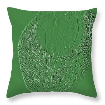 Poppy Embossing  Throw Pillow