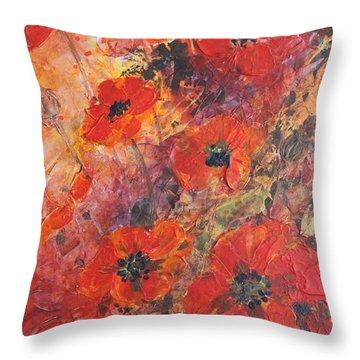 Poppy Glow Throw Pillow