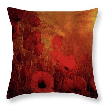 Poppy Heaven Throw Pillow