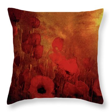 Poppy Heaven Throw Pillow