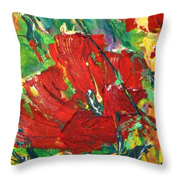 Poppy II Throw Pillow