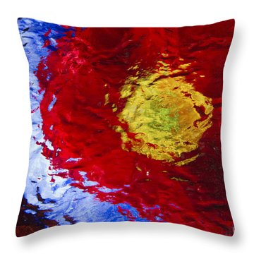 Poppy Impressions Throw Pillow