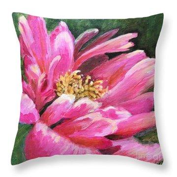 Poppy Melody Throw Pillow