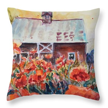 Poppy Morning Throw Pillow