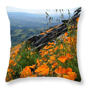 Poppy Mountain  Throw Pillow