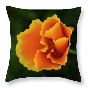Poppy Orange Throw Pillow