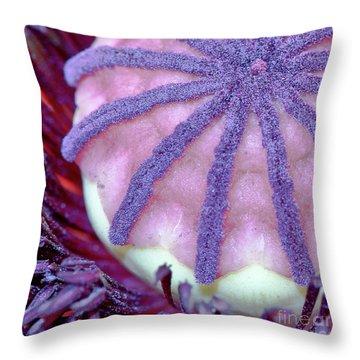 Poppy Pistil Throw Pillow