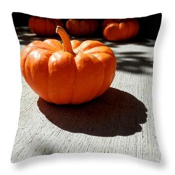 Poppy Pumpkin Throw Pillow