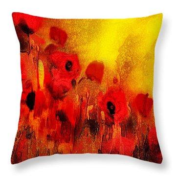 Poppy Reverie Throw Pillow