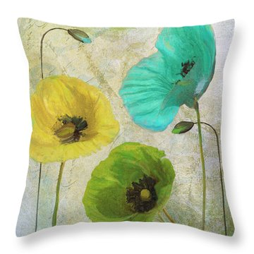 Poppy Shimmer I Throw Pillow