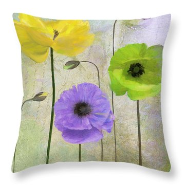Poppy Shimmer II Throw Pillow