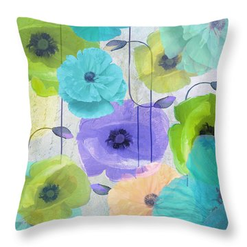 Poppy Shimmer Iv Throw Pillow