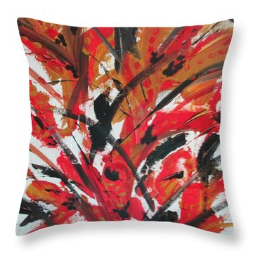 Poppy Storm Throw Pillow by Sharyn Winters