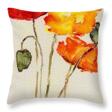 Poppy Trio Throw Pillow