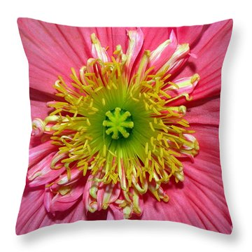 Poppy Throw Pillow by Vivian Krug Cotton