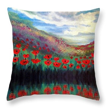 Poppy Wonderland Throw Pillow