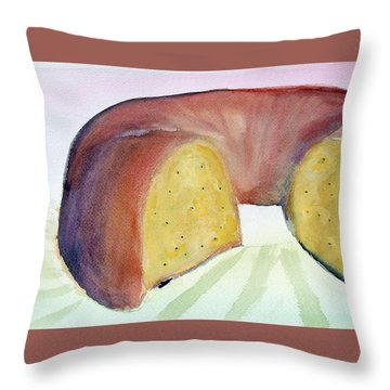 Poppyseed Bundt Cake Throw Pillow