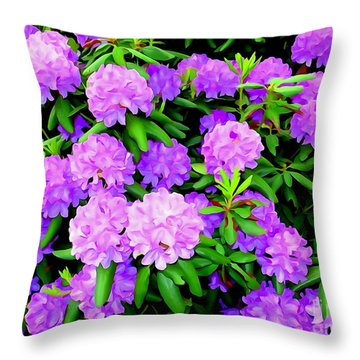 Pops Of Purple Throw Pillow