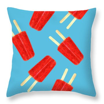 Popsicle T-shirt Throw Pillow