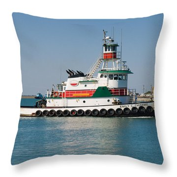 Popular Sight At Port Canaveral On Florida Throw Pillow by Allan  Hughes