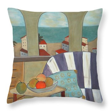 Por La Manana Throw Pillow by Trish Toro